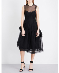 Simone Rocha Ruffle Detail Tulle Dress