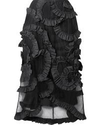 Moncler Genius 4 Simone Rocha Ruffled Med Tulle Midi Skirt