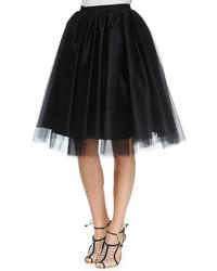 Alice + Olivia Justina Tulle Skirt Black