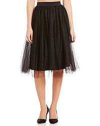 Belle Badgley Mischka Winston Layered Fit And Flare Tulle Skirt