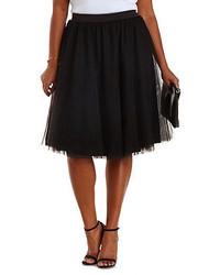 Charlotte Russe Plus Size Tulle Full Midi Skirt