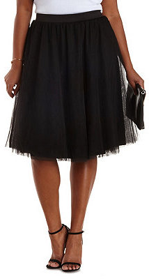 e60a96a2537 Charlotte Russe Plus Size Tulle Full Midi Skirt, $29 | Charlotte ...