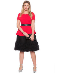 86eb0aeb56b ... ELOQUII Plus Size Layered Tulle Skirt ...