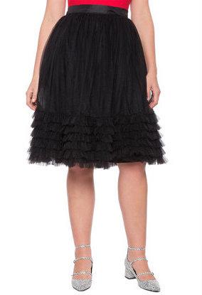 dc8d95346 ELOQUII Plus Size Layered Tulle Skirt, $110   ELOQUII   Lookastic.com