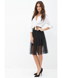 Forever 21 Contemporary Layered Tulle Midi Skirt