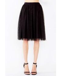 Haute Monde Black Tulle Skirt
