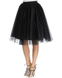 Alice + Olivia Justina Tulle Skirt Black