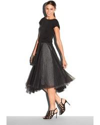 Milly Dot Tulle Tea Length Skirt