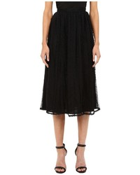 RED Valentino Point Desprit Tulle Macrame Lace Ribbons Skirt Skirt