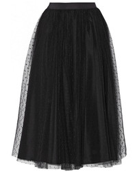 RED Valentino Redvalentino Redvalentino Point Desprit Tulle Midi Skirt