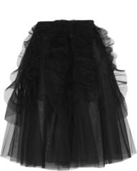 Rochas Ruffled Tulle Midi Skirt