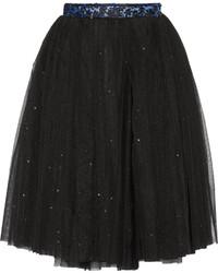 Ryan Lo Glittered Tulle Skirt