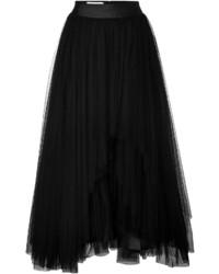 Alberta Ferretti Tulle Midi Skirt