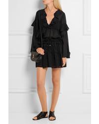 becbadb9cc IRO Carmel Lace Up Chiffon And Tulle Mini Skirt Black, $290 | NET-A ...