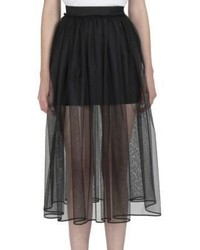 Tulle overlay mini skirt medium 956217