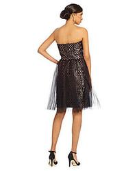 Vera Wang Sequined Tulle Skirt Dress