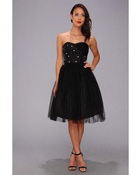 Unique Vintage Tulle Strapless Party Dress