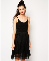 Monki dress with tulle skirt medium 172225