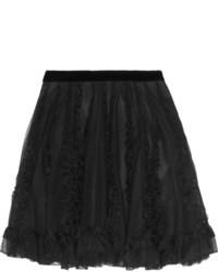 RED Valentino Redvalentino Appliqu Tulle Skirt