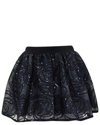 Billieblush Navy Sequin Pattern Tutu