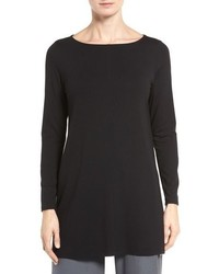 Eileen Fisher Jersey Bateau Neck Tunic