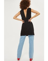 Topshop Plisse Belted Tunic