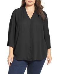 NYDJ Plus Size V Neck Woven Tunic