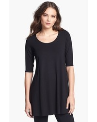 Eileen Fisher Scoop Neck Jersey Tunic