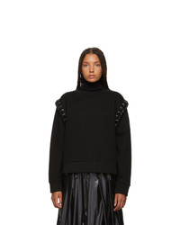 Moncler Genius 6 Moncler Noir Kei Ninomiya Black Lace Up Sweatshirt
