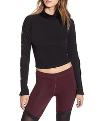 Ivy Park Armour Popper Sleeve Top