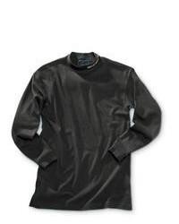 Beretta Black Long Sleeve Mock Turtleneck