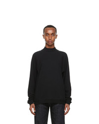 Lemaire Black Cotton Crepe Sweatshirt