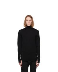 Boris Bidjan Saberi Black Knit Turtleneck
