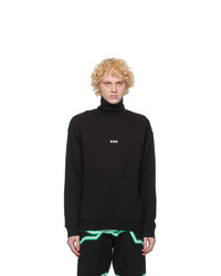 MSGM Black Micro Logo Turtleneck