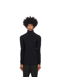 Raf Simons Black Nylon R Turtleneck