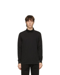 Ps By Paul Smith Black Rolled Collar Turtleneck