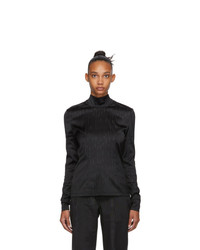 032c Black Satin Logo Long Sleeve T Shirt
