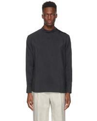 Giorgio Armani Black Silk Cord Shirt