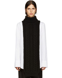Jil Sander Black Turtleneck Collar