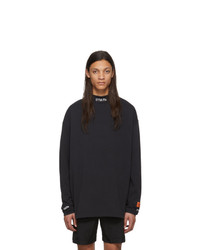 Heron Preston Black Turtleneck Style Long Sleeve T Shirt
