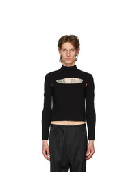Dion Lee Black Two Piece Stirrup Top
