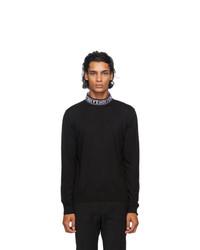 Fendi Black Wool Mock Neck Sweater