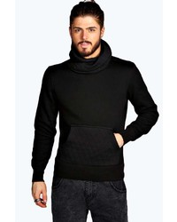 Boohoo Slim Fit Quilted Cowl Neck Sweater