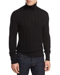 Tom Ford Cashmere Silk Ribbed Turtleneck
