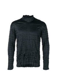 Issey Miyake Men Crinkle Effect Fitted Top