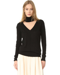 Deep v turtleneck sweater medium 1189369