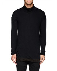 Nobrand Double Layer Turtleneck Top