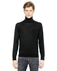 DSquared Turtle Neck Sweater With Pocket