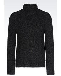Emporio Armani Turtleneck Sweater In Wool Blend
