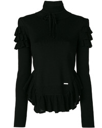 Frill turtleneck top medium 4155817